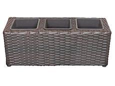 Balkónový truhlík z technorattanu - 48 cm - trojitý