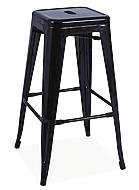 Barová židle Long - černá matná