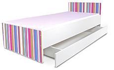 Dětská postel MS - Růžové proužky