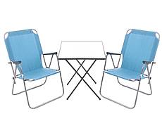 Kempingový nábytek RIKI modrý