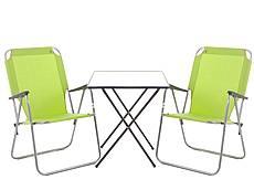 Kempingový nábytek RIKI zelený