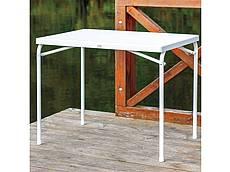 Kempingový skládací stolek - bílý