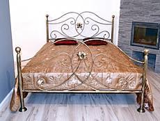 Kovová postel Alexandra 140 x 200 cm, měděná