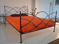 Kovová postel Elisa 140 x 200 cm, černá