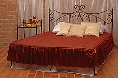Kovová postel Erika bez předního čela 140 x 200 cm - patina stříbrná