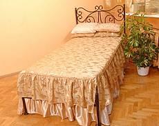Kovová postel Erika bez předního čela 90 x 200 cm - patina zlatá