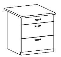 Kuchyňská dolní skříňka šuplíková D80S3 PROVENCE