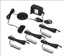 LED osvětlení skleněných polic - 4 klipsny