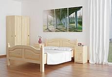 Manželská postel z masivu ALICE - 180 cm - hnědá tmavá