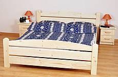 Manželská postel z masivu KAROLÍNA - 160 cm - hnědá tmavá