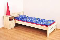 Manželská postel z masivu KAROLÍNA - 180 cm - nízké přední čelo - hnědá světlá