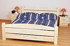Manželská postel z masivu KAROLÍNA - 180 cm - oranžová světlá
