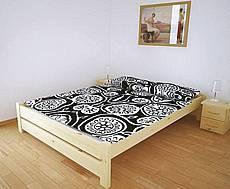 Manželská postel z masivu KEVIN - 140 cm - hnědá tmavá