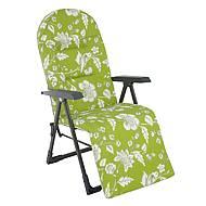 Polohovací křeslo Ploxy Plus - zelená/květy