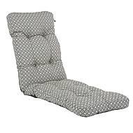 Sedák na křeslo - dlouhý, šedý