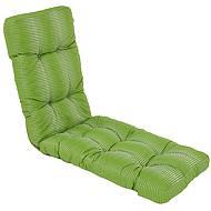 Sedák na křeslo - dlouhý, zeleno-bílá