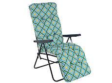Sedák na křeslo - dlouhý, zeleno-modrá