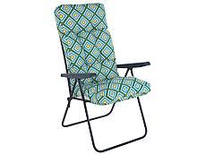 Sedák na křeslo - krátký, zeleno-modrý
