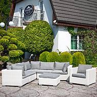 Zahradní nábytek z technorattanu Dorotka - bílá